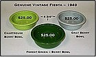 HLC Fiesta 1950's Gray, Chartreuse, Dk Green Berry Bowl
