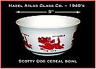Hazel Atlas Childs Red Scotty Dog Cereal Bowl