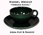 Russel Wright Iroquois Aqua Green Cup n Saucer