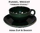 Russel Wright Iroquois Aqua Green Cup n Saucer