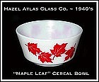 "Hazel Atlas Glass ~ Childs ""Maple Leaf"" 5"" Cereal Bowl"