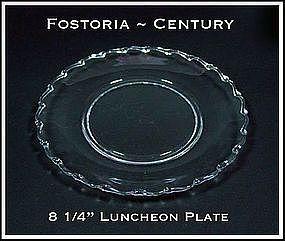 "Fostoria Century 8 1/4"" Luncheon Plate"