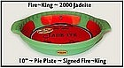 "Fire King 2000 Jadeite 10"" Pie Dish ~ Org Labels"