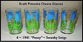 Kraft Foods Swanky Swigs ~ 4 ~ 1941 Blue Posey