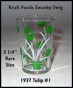 Kraft Foods~Swanky Swig~1937 Green Tulip #1 Rare Size