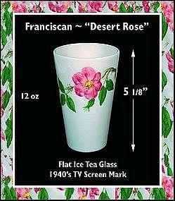 """Franciscan ~ """"Desert Rose"""" ~ 1940's China Tumbler"""