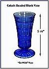"Cobalt ""Go With"" Beaded Block 5"" Vase"