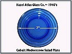 Hazel Atlas Moderntone Cobalt Salad Plate