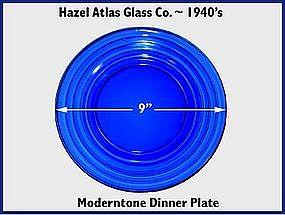 Hazel Atlas Moderntone Cobalt Dinner Plate