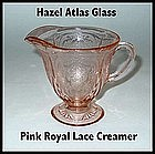 Hazel Atlas~Royal Lace~Pink Footed Creamer