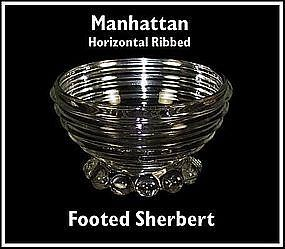 Hocking ~ Manhattan ~ Footed Sherbert