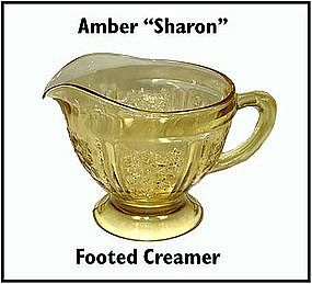 Federal ~ Amber Sharon ~ Footed Creamer