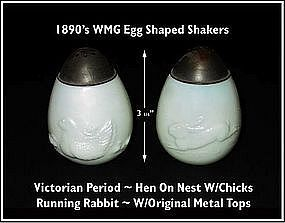 Victorian�WMG�Rabbit�Sitting Hen & Chicks Shakers