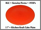 HLC Genuine Fiesta Kitchen Kraft Tangerine Cake Plate