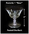 "Fostoria ""Rose"" Cutting No 827-6 oz Footed Sherbert"
