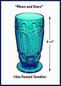 Moon and Stars Tall 14oz Footed Ice Tea Tumbler