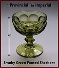 "Heisey ""Provincial"" by Imperial Smoky Green Sherbert"