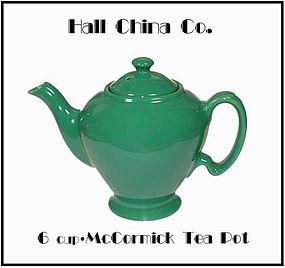 Hall China 6 Cup McCormick Tea Pot