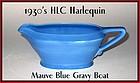 HLC Harlequin Original 1930's Mauve Blue Gravy Boat