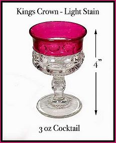 Kings Crown Light Stain 3 ounce Cocktail Stem