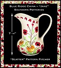 "Blue Ridge China ~ Southern Potteries ~ ""Jane"" Pitcher"