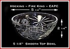 Hocking Fire King EAPC Smooth Top Deep Bowl