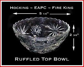 Hocking Fire King EAPC Ruffled Top Deep Bowl
