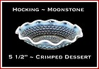 Hocking Moonstone Small Crimped/Ruffled Dessert Bowl