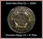 Hazel Atlas  Yellow Florentine #2 Bread & Butter Plate