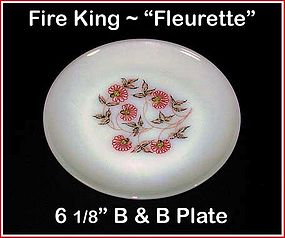 "Fire King Fleurette 6 1/2"" Bread & Butter Plate"