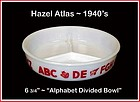 "Hazel Atlas Childs Alphabet 7"" Divided Bowl/Plate"
