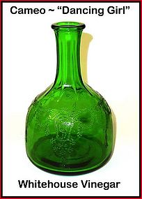 "Cameo ~ ""Dancing Girl"" Dark Green Water Bottle"