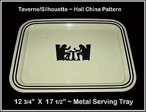 Hall Pattern Taverne Silhouette Metal Serving Tray