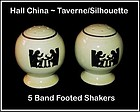 Hall Taverne Silhouette Banded Footed Shakers
