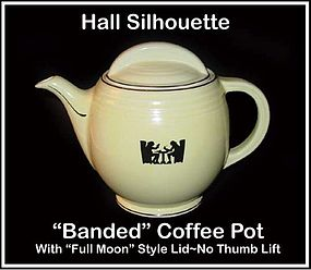 Hall Taverne Silhouette Banded Full Moon Coffee Pot