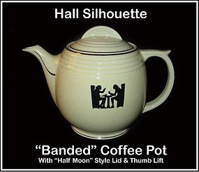 Hall Taverne Silhouette Banded Half Moon Coffee Pot