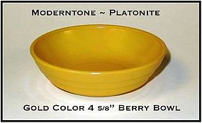 Moderntone Platonite Fired On Gold Color Berry Bowl