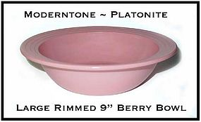 Moderntone Platonite Pastel Pink Large Rimmed Berry