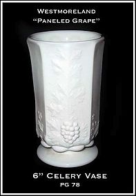 "Westmoreland Paneled Grape PG78 6"" Celery Vase"