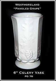 """Westmoreland Paneled Grape PG78 6"""" Celery Vase"""