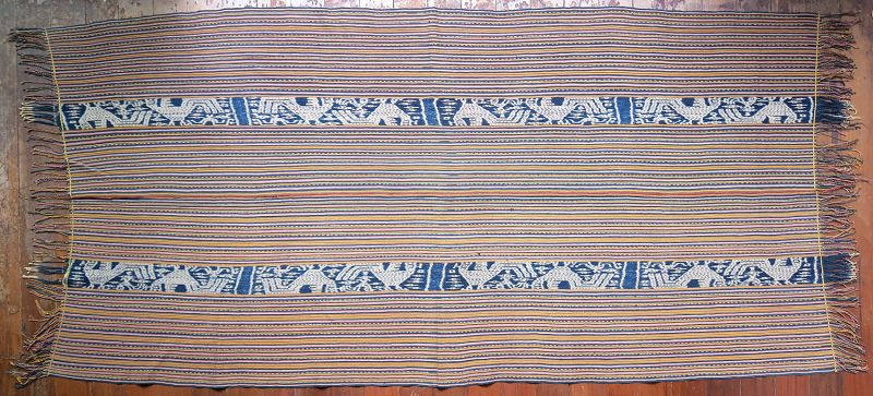 West Timor   Men's cloth (<i>beti</i>) with ikat roosters   Indonesia