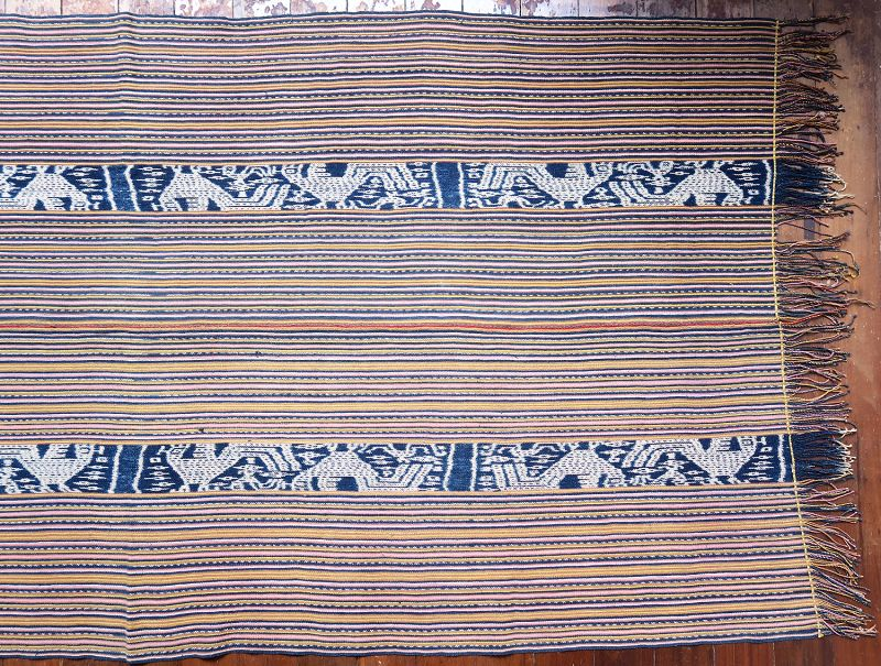West Timor | Men's cloth (<i>beti</i>) with ikat roosters | Indonesia