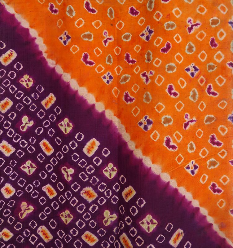 Bali   early 20th century tie-dye <i>pelangi</i> silk wrapper
