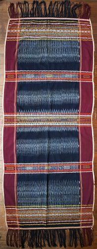 Sumatra | Batak Ikat Shoulder-cloth (<i>Bintang Maratur</i>)