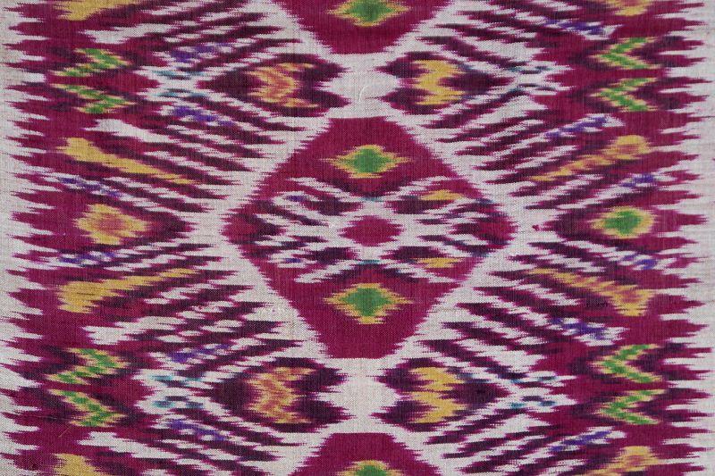Bali | Antique silk ikat body-wrapper (<i>anteng endek</i>)