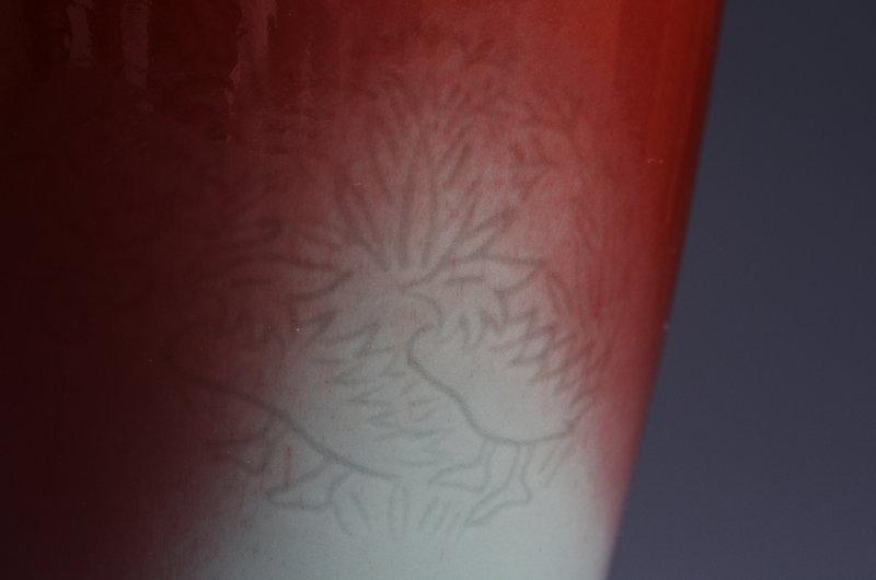Japanese ceramic vase made by Kiyomizu Rokubei 5th