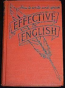 """Effective English"": Edward Frank Allen, 1938"