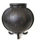 Korean Unusual Iron Temple Vase