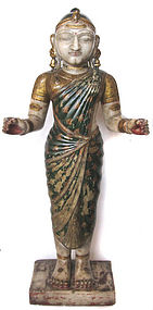 Indian Antique Alabaster Figure of Female Divinity