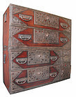 Japanese Antique Rare Isho Tansu from Sado Island